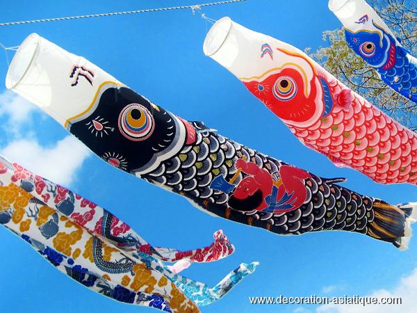 Les ko nobori carpes volantes japonaises for Le prix des carpes koi