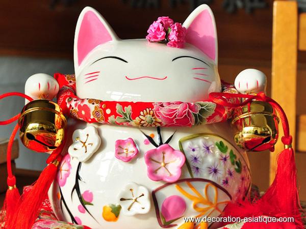 Le maneki neko ou chat bonheur japonais for Decoration asiatique