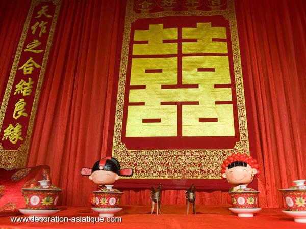 La d coration de mariage chinois for Decoration asiatique