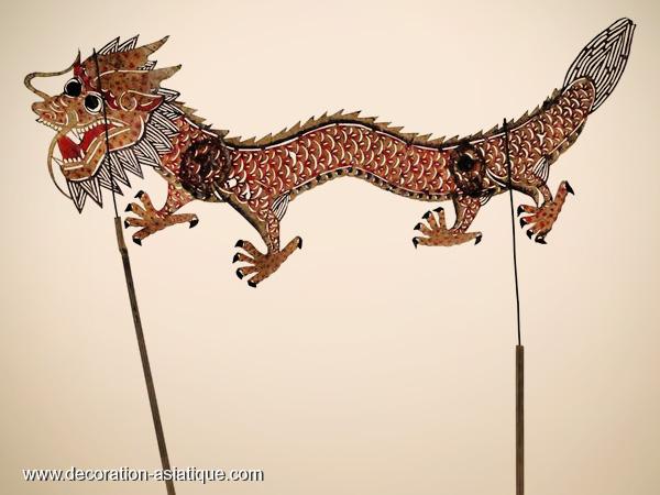Les marionnettes du théâtre d'ombre chinois